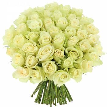 Bouquet de roses - Roses blanches Elégance