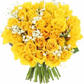 Bouquet de roses - Roses Lemon