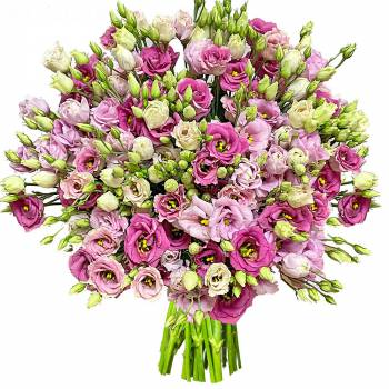 Bouquet of flowers - Lisianthus Duo of Roses