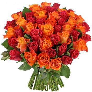 Bouquet de roses - Roses Flamboyantes