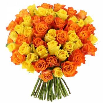Bouquet de roses - Roses Sunrise