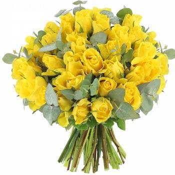 Bouquet de roses - Roses Sunshine