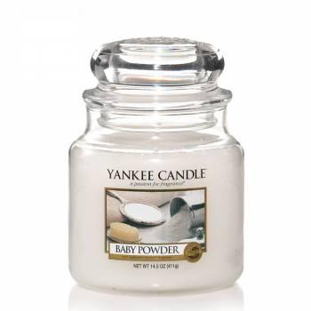 Livraison en moins de 24h : Bougie Yankee Candle - Baby Powder - Petite Jarre (104g)